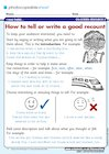 How to tell or write a good recount