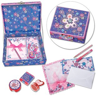 Flower Stationery Box