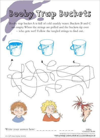 Horrid Henry Booby Trap Buckets