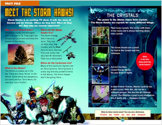 Storm Hawks: Fact File