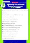 Punctuation practice: Descriptive texts (8 pages)