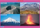 Volcanoes around the world – poster
