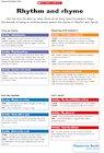 Rhythm and rhyme – EYFS cross-curricular links chart