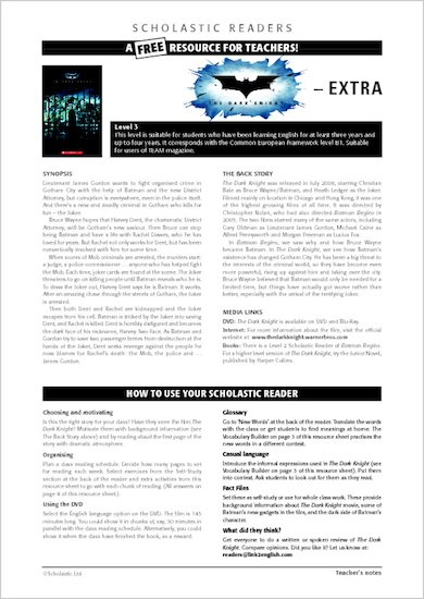 The Dark Knight: Resource sheet and answers