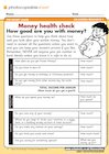 Money health check – questionnaire