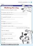 Walking the dog - poem frames (1 page)