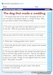 The dog that made a wedding - question sheet (1 page)