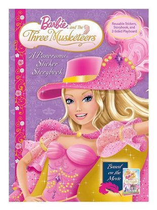 Barbie and the Three Musketeers: Panorama Sticker Storybook