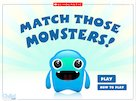 Match those monsters! – interactive whiteboard game