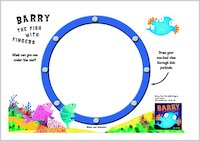 Barry the Fish with Fingers Porthole Drawing Activity