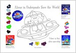 Aliens in Underpants Spaceship Colouring Activity (1 page)