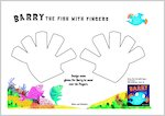 Design gloves for Barry the Fish with Fingers (1 page)