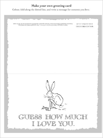 Guess How Much I Love You Greetings Card