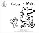 Colouring fun with Maisy