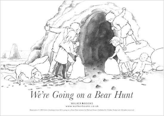 We're Going on a Bear Hunt Colouring Sheet
