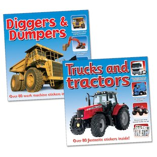 Tractors and Diggers Sticker Pack