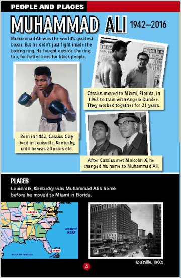 Muhammad Ali sample people and places
