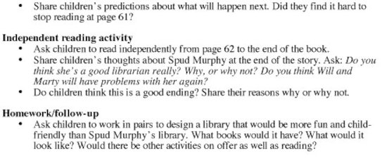 Legend of Spud Murphy Teacher's Notes Page 3