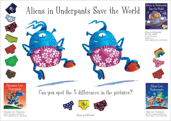 Aliens in Underpants Save the Word Spot the Difference