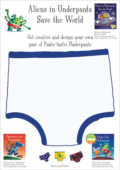 Design Aliens in Underpants Save the World underpants