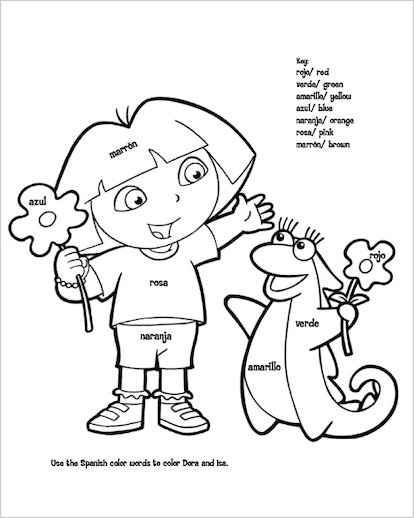 teenage dora coloring pages - photo#12