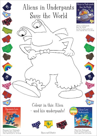 Aliens in Underpants Save the World Colouring