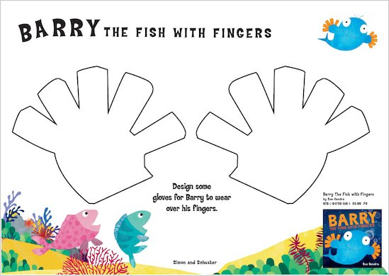 Design gloves for Barry the Fish with Fingers