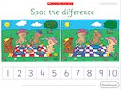 Spot the difference – interactive game