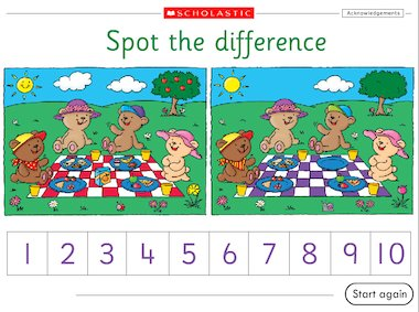 Spot the difference interactive game early years teaching interactive flash altavistaventures Choice Image