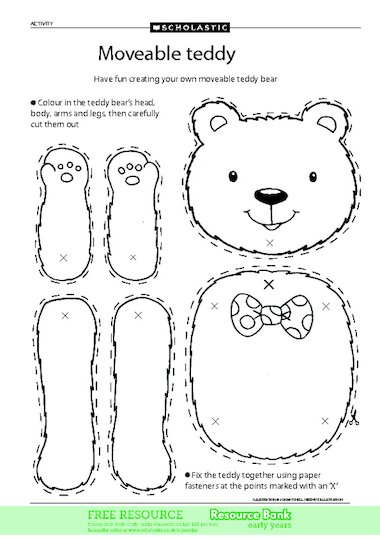 Moveable teddy – FREE Early Years teaching resource - Scholastic