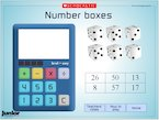 Number boxes game - interactive