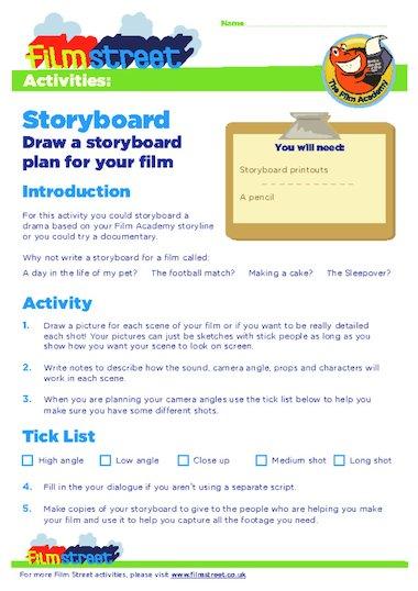 Make A Movie Storyboard Templates Primary Ks2 Teaching Resource