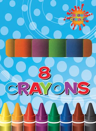 FREE pack of 8 crayons