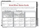 Rivers  – fact game cards