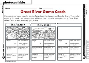 Rivers – fact game cards – Primary KS2 teaching resource - Scholastic