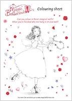 Magic Ballerina Colouring Sheet