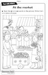 Digraphs: At the market activity sheet (1 page)
