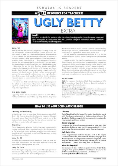 ELT Readers: Ugly Betty Resource Sheets and Answers
