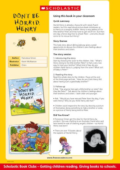 Don't Be Horrid Henry Reading Notes