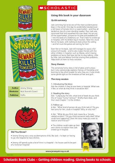 Beware Killer Tomatoes Teacher's Notes