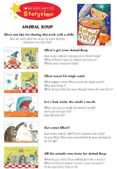 Animal Soup Storytime Notes