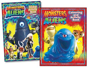 Monsters Vs Aliens Sticker-Activity Pair