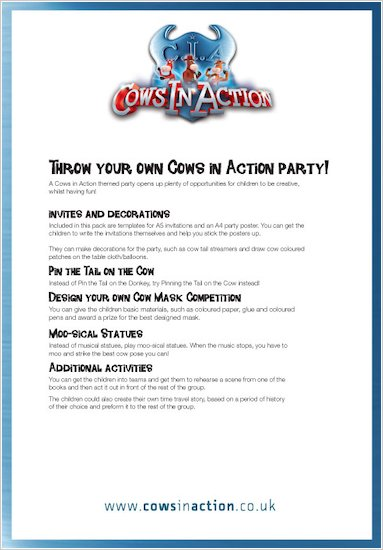 Cows in Action Party Plan