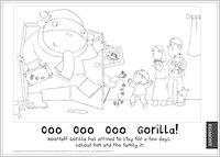 Ooo ooo ooo Gorilla Colouring!