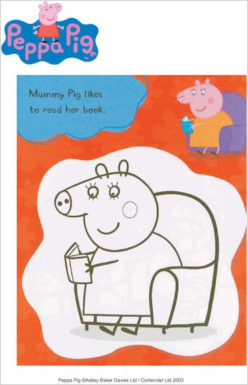 Colour in Peppa's mummy