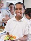 School boy with lunch
