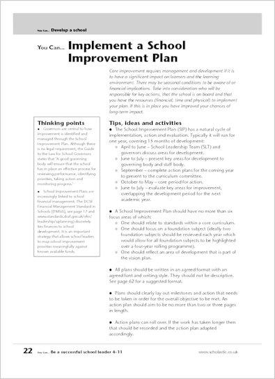 Implement a School Improvement Plan