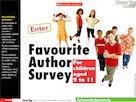 Favourite author survey – interactive resource