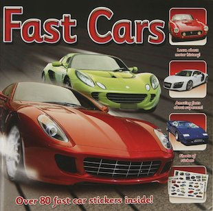 Fast Cars Sticker Station