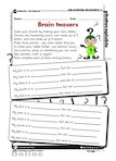 Writing brain teasers (1 page)